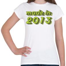 PRINTFASHION made-in-2013-green-grey - Női póló - Fehér