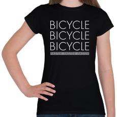 PRINTFASHION Bicikli - Női póló - Fekete