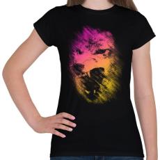PRINTFASHION Lopakodó veszély - Női póló - Fekete