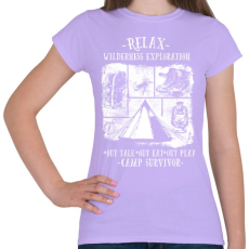 PRINTFASHION Túlélőtábor - Női póló - Viola