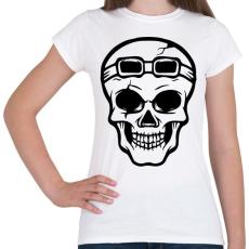 PRINTFASHION Motoros koponya - Női póló - Fehér