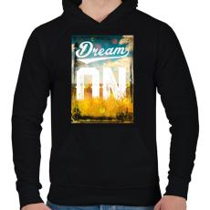 PRINTFASHION Álom - Férfi kapucnis pulóver - Fekete