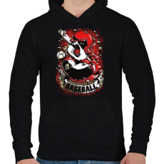 PRINTFASHION Baseball panda - Férfi kapucnis pulóver - Fekete