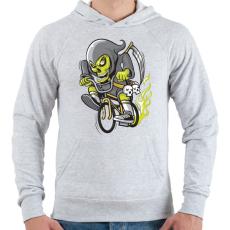 PRINTFASHION BMX kaszás - Férfi kapucnis pulóver - Sport szürke