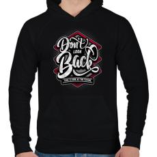 PRINTFASHION Ne nézz vissza - Férfi kapucnis pulóver - Fekete