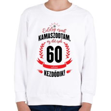 PRINTFASHION kamasz-60-black-red - Gyerek pulóver - Fehér