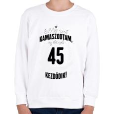 PRINTFASHION kamasz-45-black-white - Gyerek pulóver - Fehér