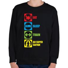 PRINTFASHION Go super saiyan - Gyerek pulóver - Fekete