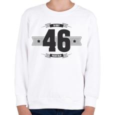 PRINTFASHION b-day-46-dark-lightgrey - Gyerek pulóver - Fehér