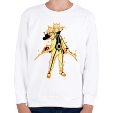 PRINTFASHION Naruto Kurama mód - Gyerek pulóver - Fehér