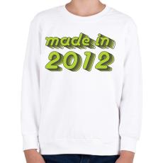 PRINTFASHION made-in-2012-green-grey - Gyerek pulóver - Fehér