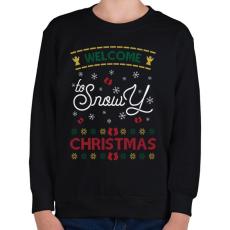 PRINTFASHION Fehér karácsony - Gyerek pulóver - Fekete