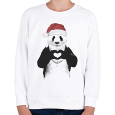 PRINTFASHION Santa panda - Gyerek pulóver - Fehér