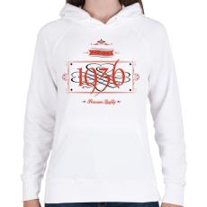 PRINTFASHION since-1936-red-black - Női kapucnis pulóver - Fehér