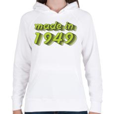 PRINTFASHION made-in-1949-green-grey - Női kapucnis pulóver - Fehér
