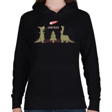 PRINTFASHION Télapóóó - Női kapucnis pulóver - Fekete