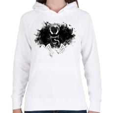 PRINTFASHION Venom - Női kapucnis pulóver - Fehér