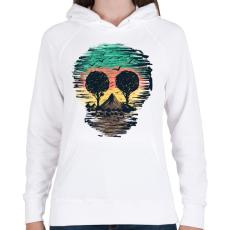 PRINTFASHION Természet - Női kapucnis pulóver - Fehér