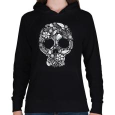 PRINTFASHION Koponya - Női kapucnis pulóver - Fekete