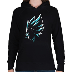PRINTFASHION Super Saiyan Vegeta - Női kapucnis pulóver - Fekete