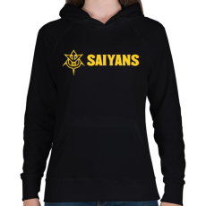 PRINTFASHION SAIYANS - Női kapucnis pulóver - Fekete