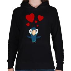 PRINTFASHION birdie - Női kapucnis pulóver - Fekete