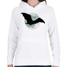PRINTFASHION Denevér - Női kapucnis pulóver - Fehér