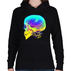 PRINTFASHION Radikális gondolatok - Női kapucnis pulóver - Fekete