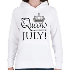 PRINTFASHION Queens - Női kapucnis pulóver - Fehér