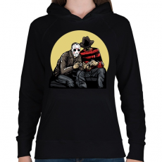 PRINTFASHION Gamerek - Női kapucnis pulóver - Fekete