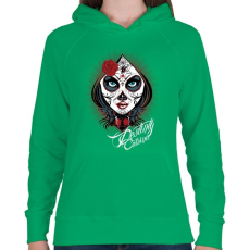 PRINTFASHION Sors - Női kapucnis pulóver - Zöld