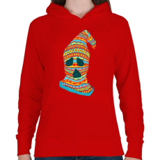 PRINTFASHION Szellemtolvaj - Női kapucnis pulóver - Piros