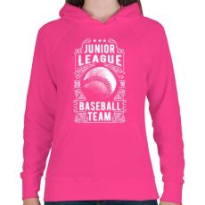 PRINTFASHION Baseball csapat - Női kapucnis pulóver - Fukszia