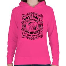 PRINTFASHION Baseball szuper liga  - Női kapucnis pulóver - Fukszia