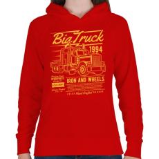 PRINTFASHION Kamion - Női kapucnis pulóver - Piros