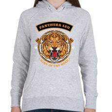 PRINTFASHION Oroszlán - Női kapucnis pulóver - Sport szürke