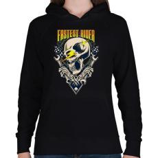 PRINTFASHION Gyors sofőr - Női kapucnis pulóver - Fekete