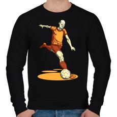 PRINTFASHION Football  - Férfi pulóver - Fekete