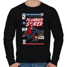 PRINTFASHION Plumber Skater - Férfi pulóver - Fekete