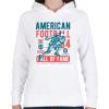 PRINTFASHION Amerikai foci - Női kapucnis pulóver - Fehér