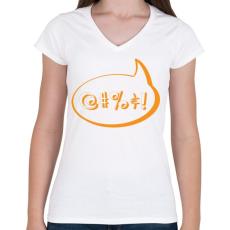 PRINTFASHION agrrr-orange - Női V-nyakú póló - Fehér