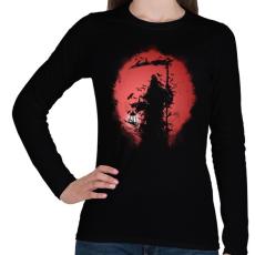 PRINTFASHION Túlvilág - Női hosszú ujjú póló - Fekete