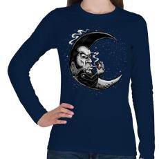 PRINTFASHION Rocker hold - Női hosszú ujjú póló - Sötétkék