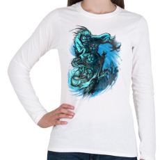 PRINTFASHION Árnyjáték - Női hosszú ujjú póló - Fehér