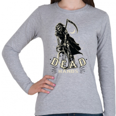 PRINTFASHION Bringás halál - Női hosszú ujjú póló - Sport szürke
