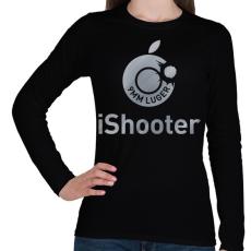 PRINTFASHION iShooter - Női hosszú ujjú póló - Fekete