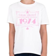 PRINTFASHION csillag-1974-pink - Gyerek póló - Fehér