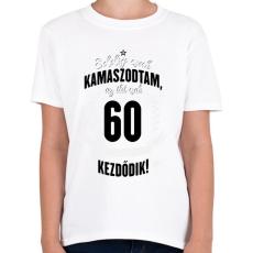 PRINTFASHION kamasz-60-black-white - Gyerek póló - Fehér