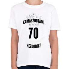 PRINTFASHION kamasz-70-black-white - Gyerek póló - Fehér