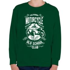 PRINTFASHION Kaliforniai öreg motorosok - Gyerek pulóver - Sötétzöld